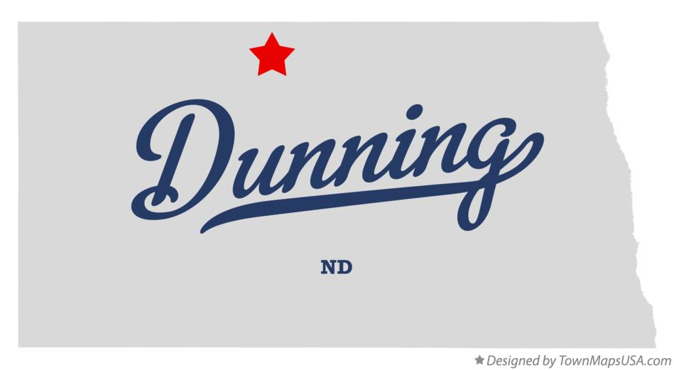 Map of Dunning North Dakota ND