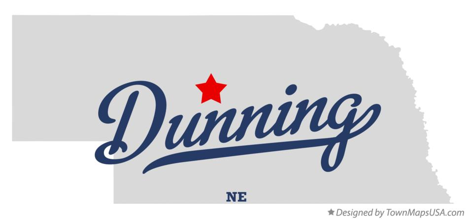 Map of Dunning Nebraska NE