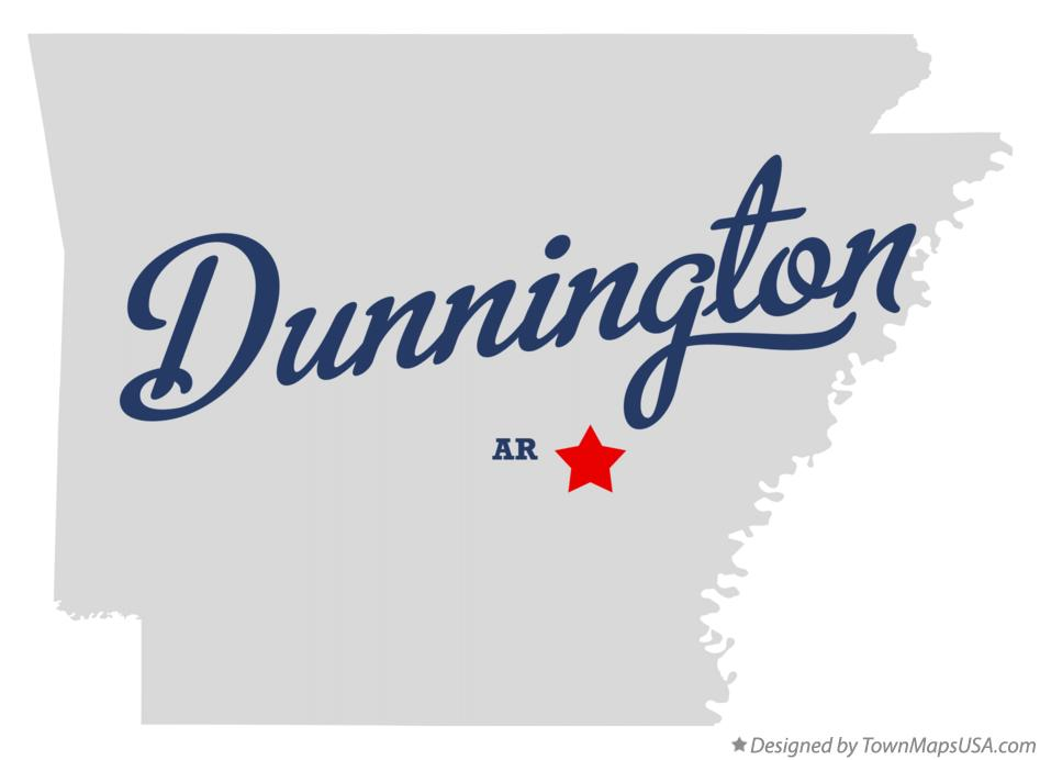 Map of Dunnington Arkansas AR