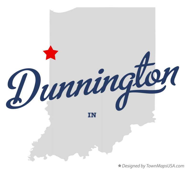 Map of Dunnington Indiana IN
