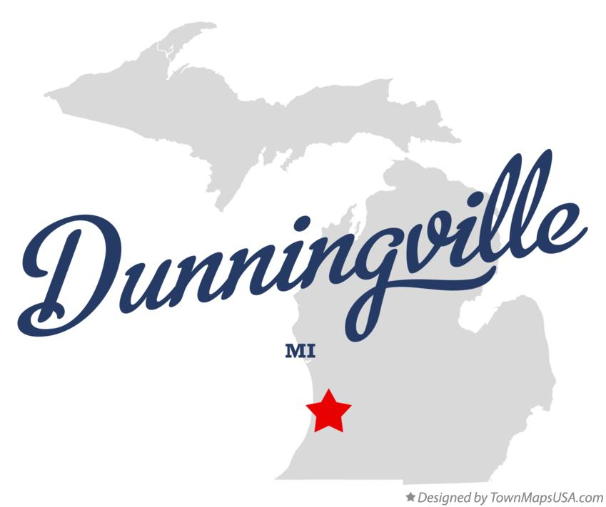Map of Dunningville Michigan MI