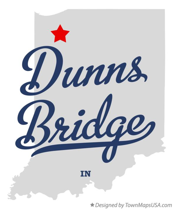 Map of Dunns Bridge Indiana IN