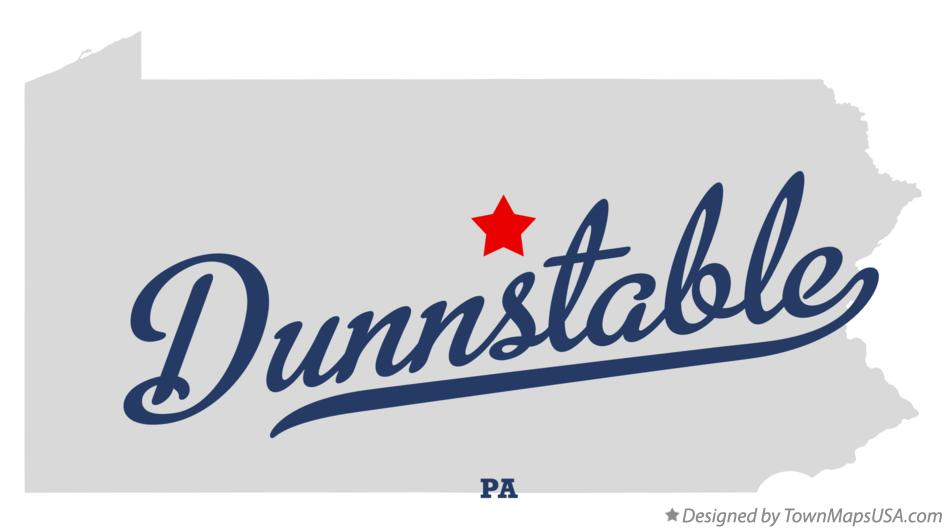 Map of Dunnstable Pennsylvania PA
