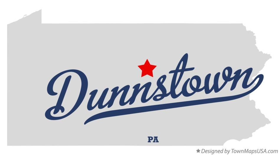 Map of Dunnstown Pennsylvania PA