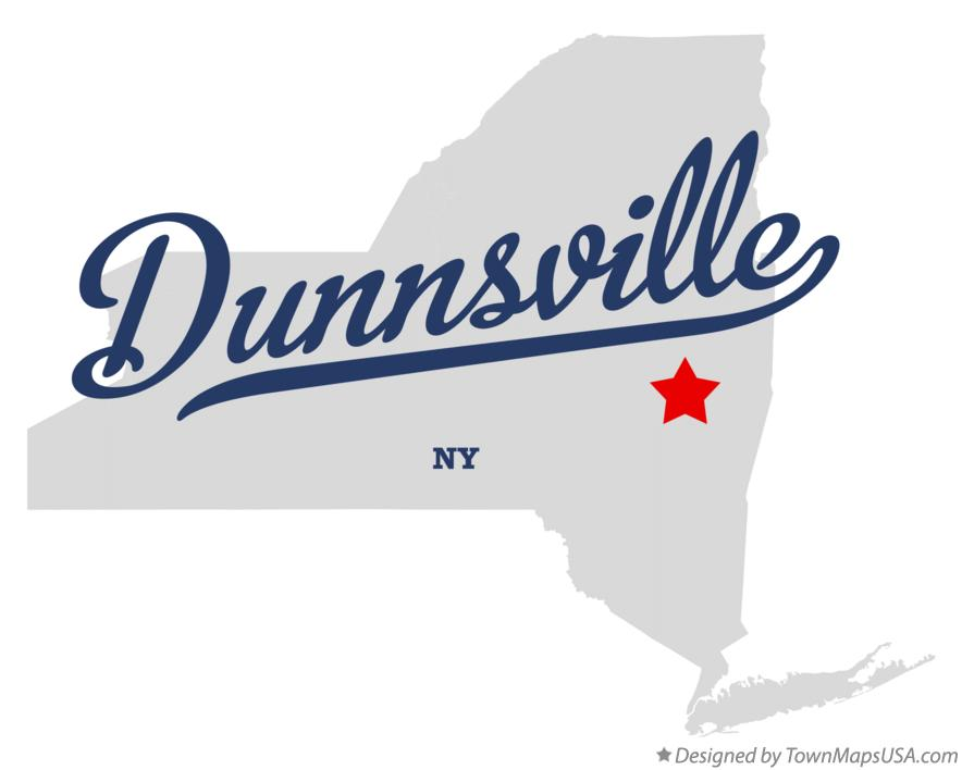 Map of Dunnsville New York NY
