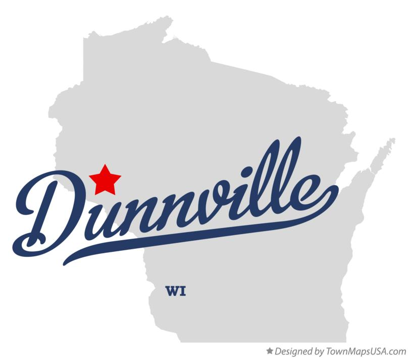 Map of Dunnville Wisconsin WI