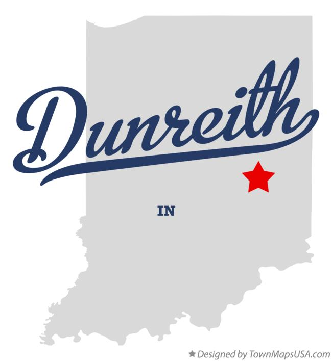 Map of Dunreith Indiana IN