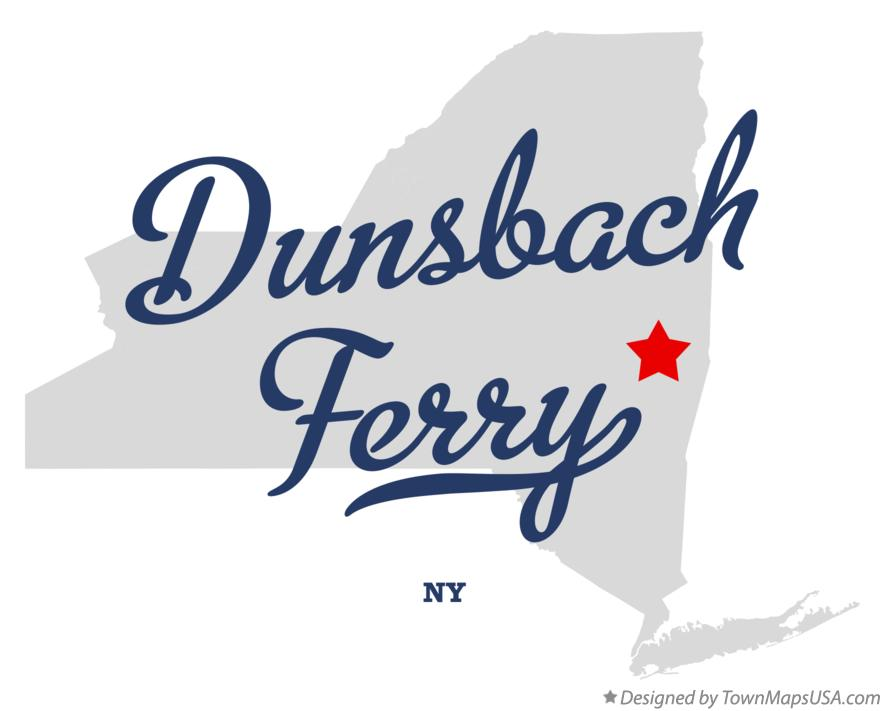 Map of Dunsbach Ferry New York NY