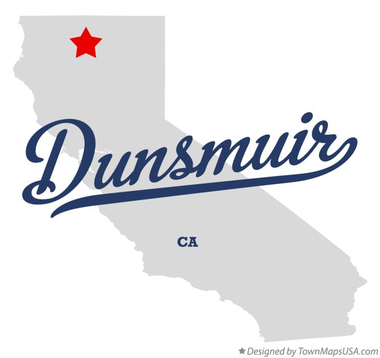 Map of Dunsmuir California CA