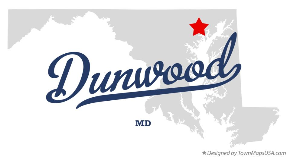 Map of Dunwood Maryland MD