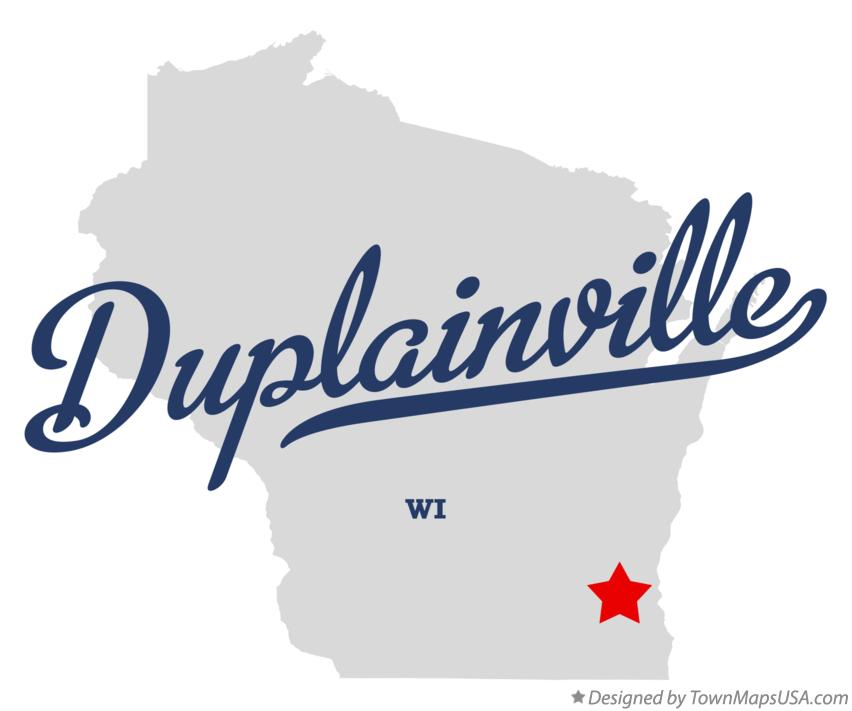 Map of Duplainville Wisconsin WI