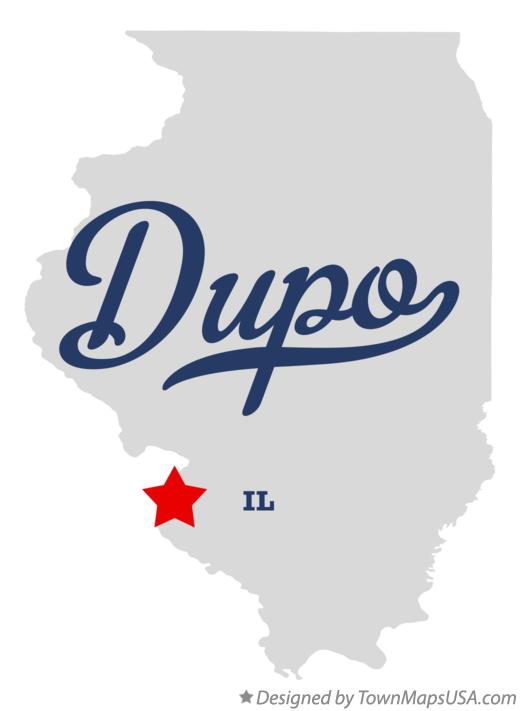 Map of Dupo Illinois IL