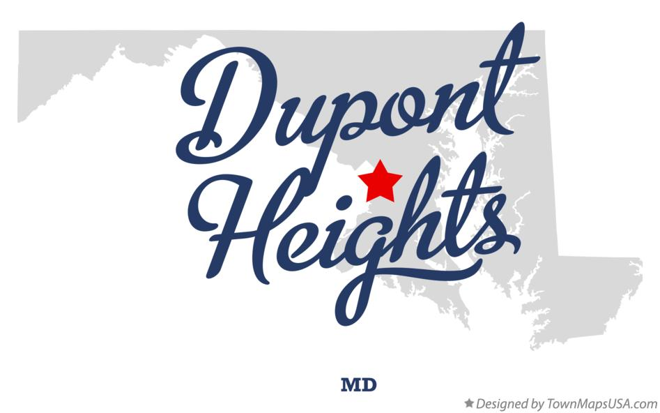 Map of Dupont Heights Maryland MD