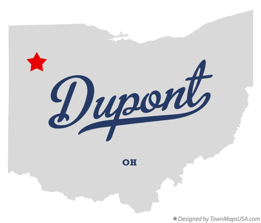 Map of Dupont Ohio OH