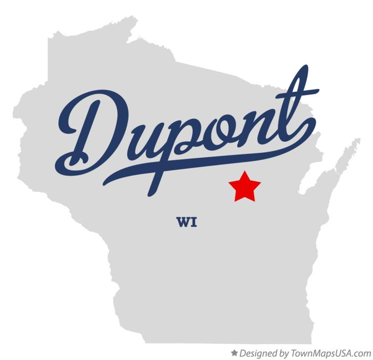 Map of Dupont Wisconsin WI