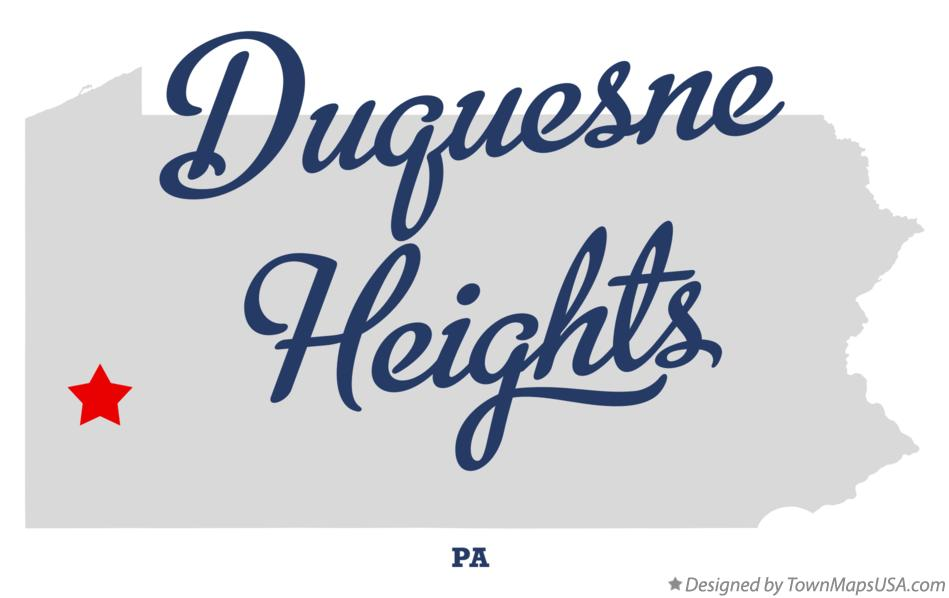 Map of Duquesne Heights Pennsylvania PA