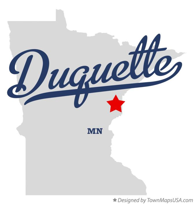 Map of Duquette Minnesota MN