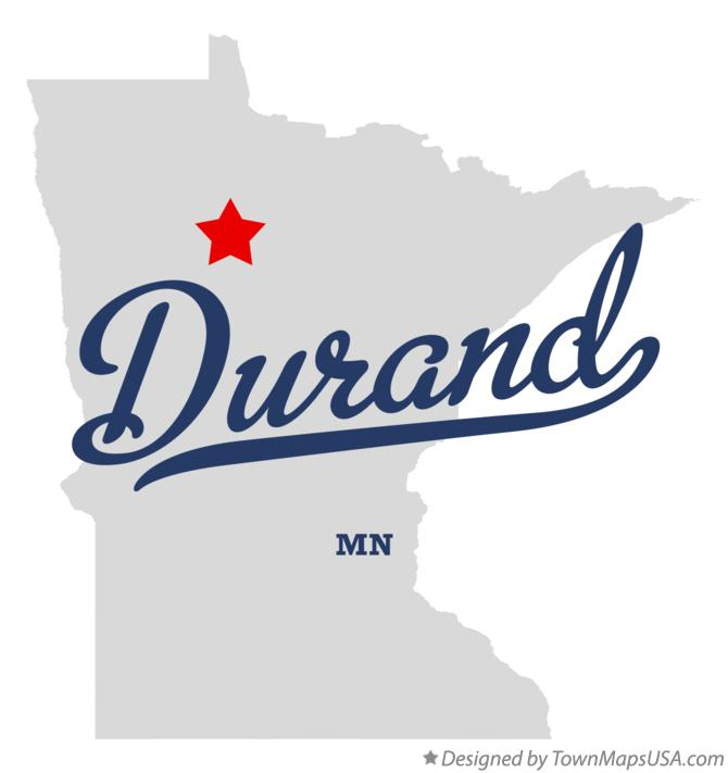 Map of Durand Minnesota MN