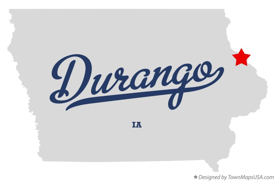 Map of Durango Iowa IA