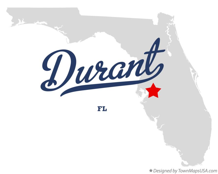 Map of Durant Florida FL