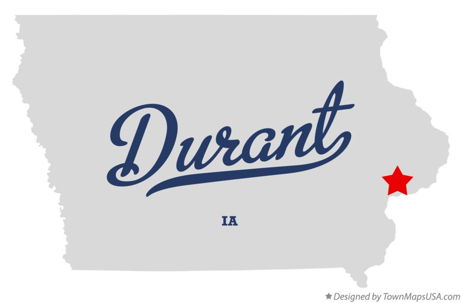 Map of Durant Iowa IA