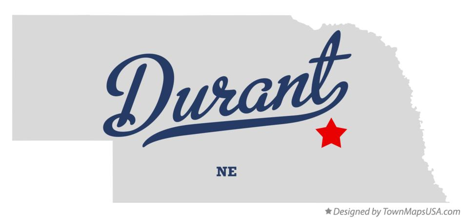 Map of Durant Nebraska NE