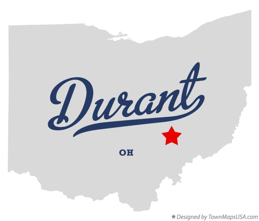 Map of Durant Ohio OH