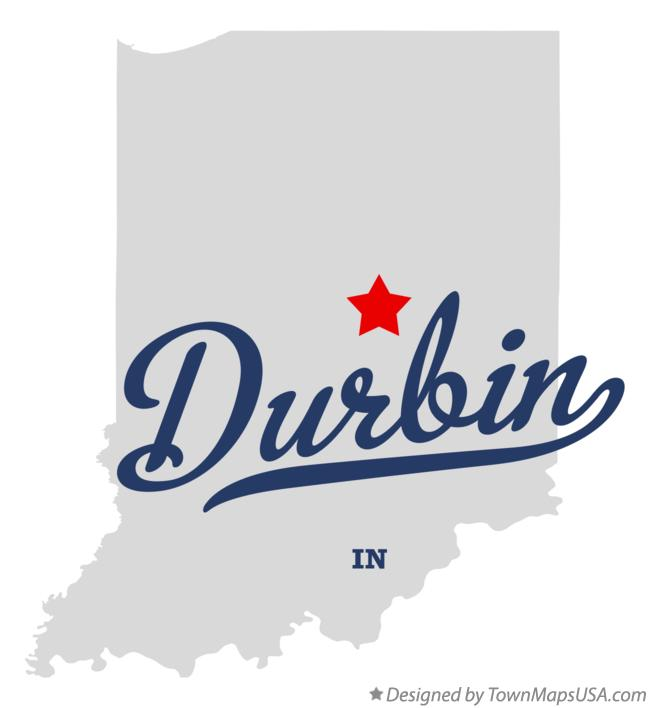 Map of Durbin Indiana IN