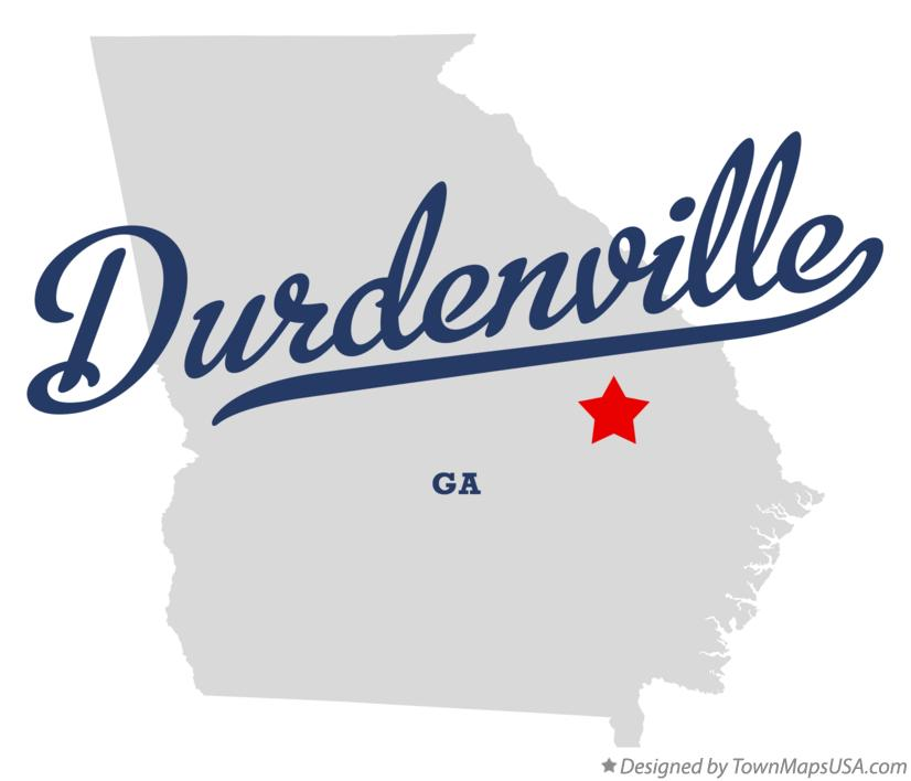 Map of Durdenville Georgia GA