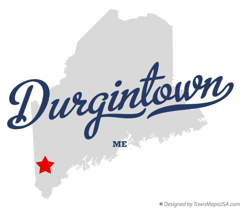 Map of Durgintown Maine ME