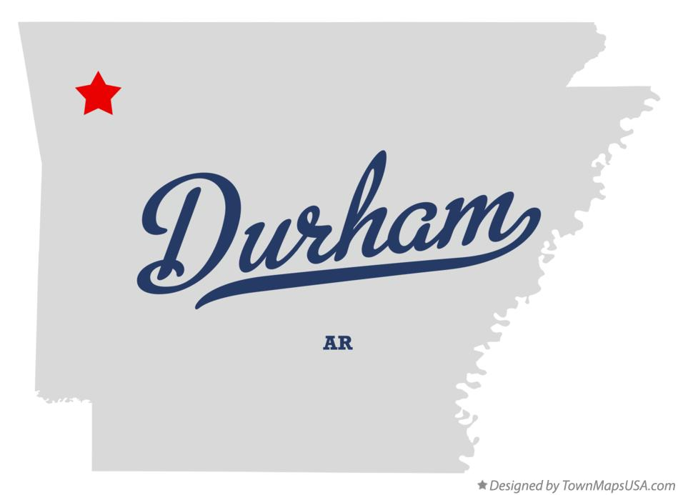 Map of Durham Arkansas AR