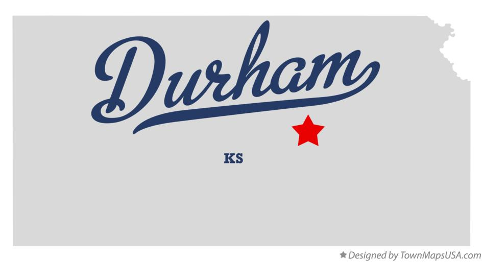 Map of Durham Kansas KS