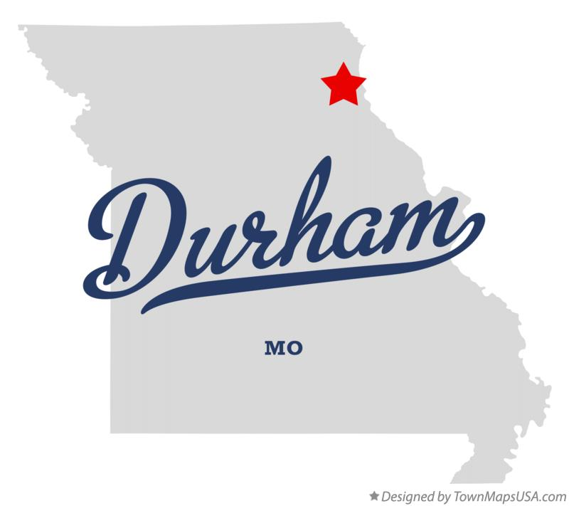 Map of Durham Missouri MO