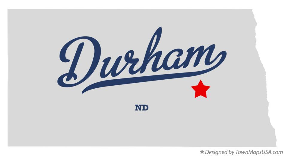 Map of Durham North Dakota ND