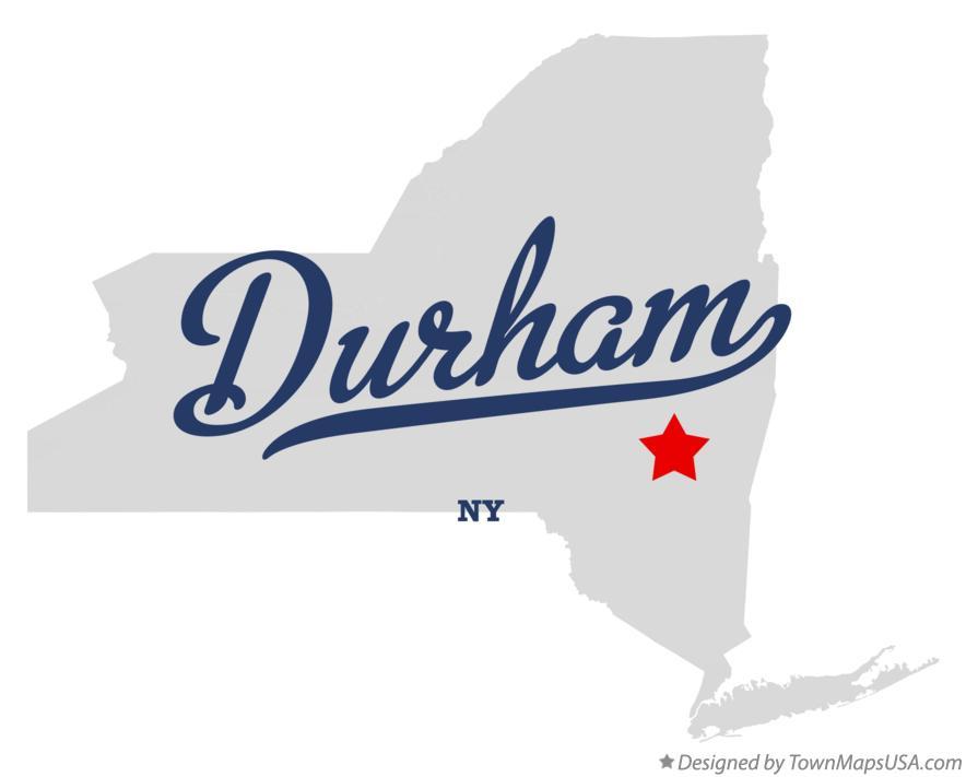 Map of Durham, NY, New York Durham Ny Map on