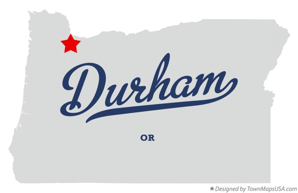 Map of Durham Oregon OR