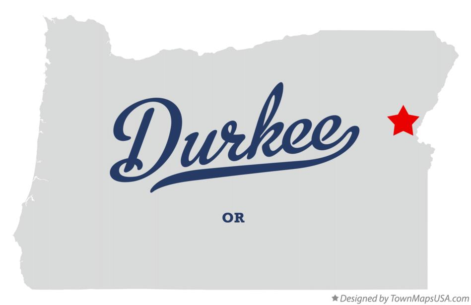 Map of Durkee Oregon OR