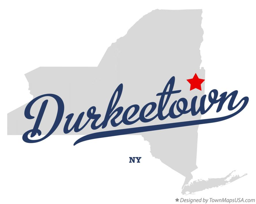 Map of Durkeetown New York NY