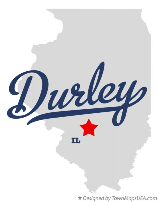 Map of Durley Illinois IL