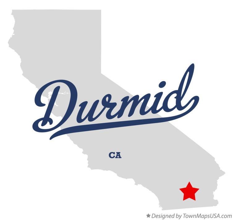 Map of Durmid California CA