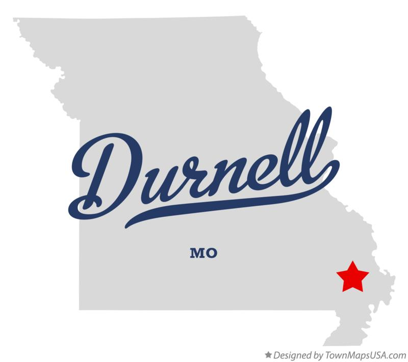 Map of Durnell Missouri MO