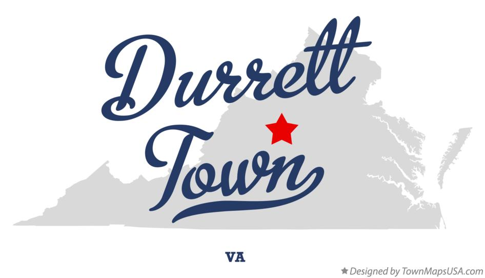 Map of Durrett Town Virginia VA