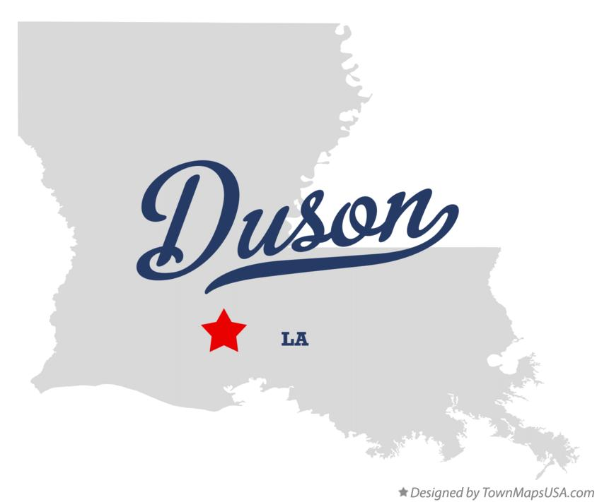 Map of Duson Louisiana LA