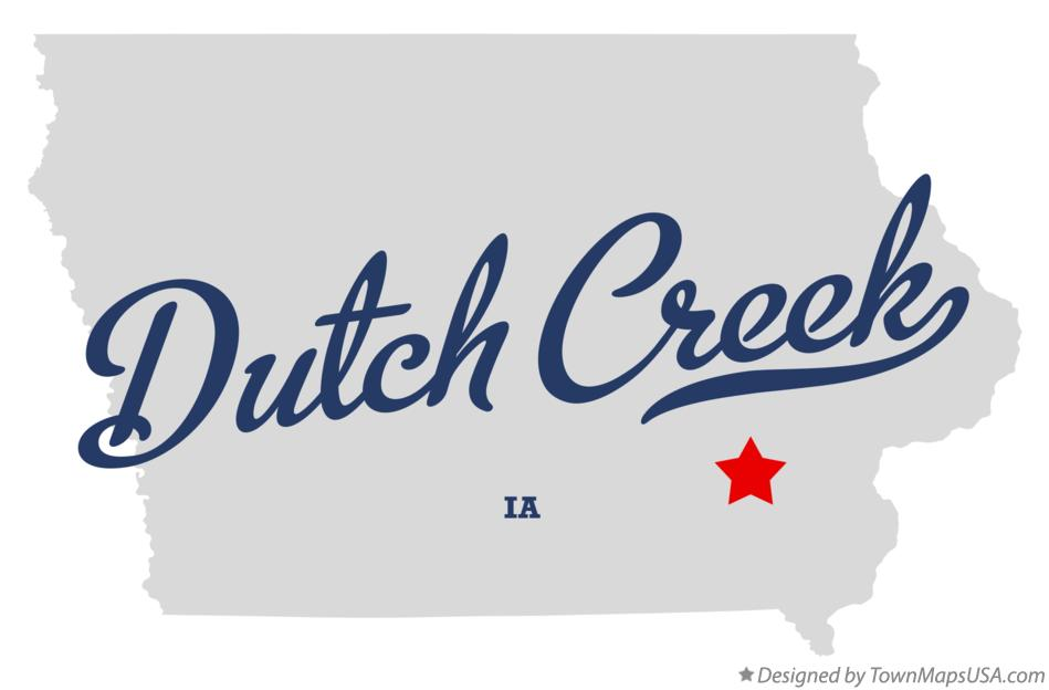 Map of Dutch Creek Iowa IA