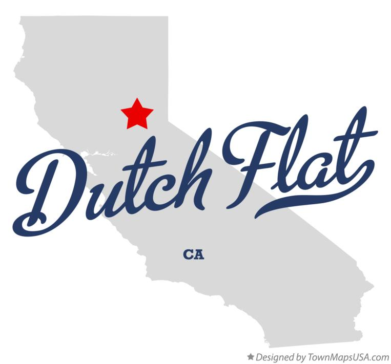 Map of Dutch Flat California CA
