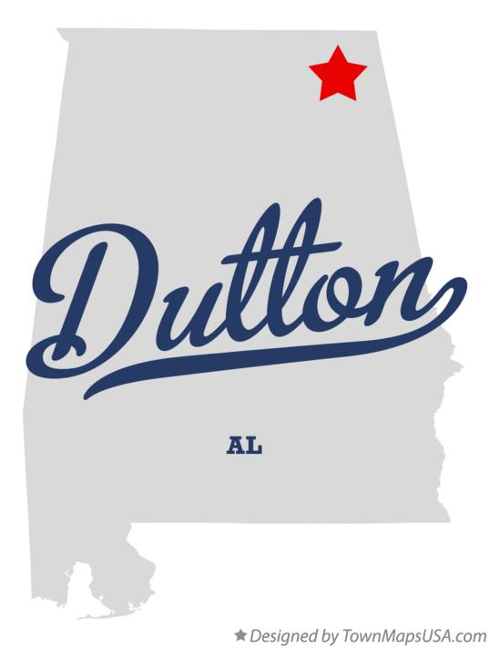 Map of Dutton Alabama AL