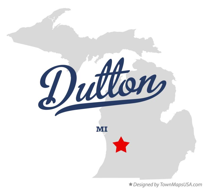 Map of Dutton Michigan MI