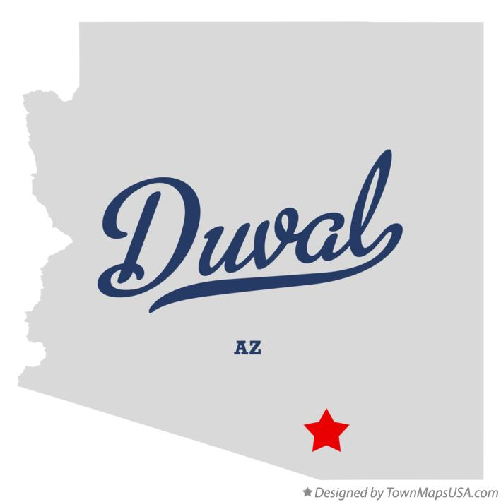 Map of Duval Arizona AZ