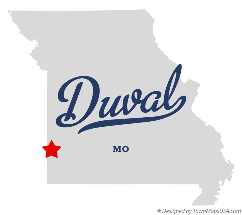 Map of Duval Missouri MO