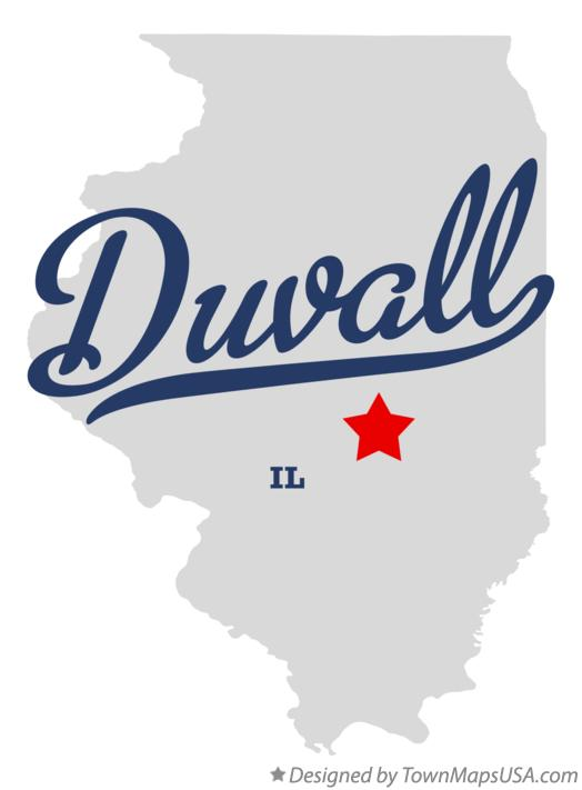 Map of Duvall Illinois IL